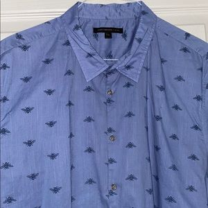 Men's John Varvatos Bee Print Casual Short Sleeve